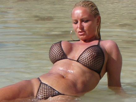 Hot Blonde In Hot Beachwear On A Hot Beach (14)